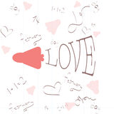 Valentinsgrußtagesillustrationen Stockbild
