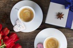 Valentinsgrußtageskaffee Lizenzfreies Stockfoto