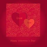 Valentinsgrußtageskarte Stock Abbildung