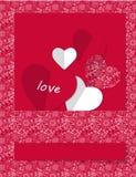 Valentinsgrußtageskarte Vektor Abbildung