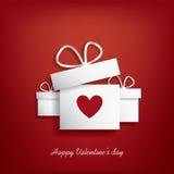 Valentinsgrußtageskarte lizenzfreie abbildung