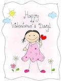 Valentinsgrußtageskarte Lizenzfreie Stockfotografie