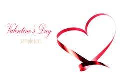 Valentinsgrußtageskarte mit copyspace. Abstraktes Herz gemacht von rotem r Lizenzfreies Stockbild