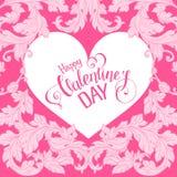 Valentinsgrußtageskarte mit Florenelementen Lizenzfreie Stockfotografie