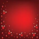 Valentinsgrußtageskarte mit transparentem herzigem Lizenzfreies Stockfoto