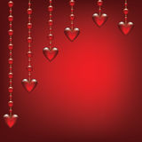 Valentinsgrußtageskarte mit transparentem herzigem Lizenzfreie Stockbilder