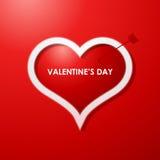 Valentinsgrußtageskartenauslegunghintergrund Stockbild