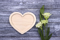 Valentinsgrußtageskartenkonzeptblumen Stockbild