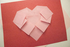 Valentinsgrußtagesklebriges Anmerkungsherz Lizenzfreie Stockbilder