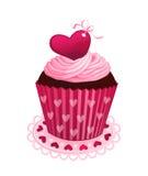 Valentinsgrußtageskleiner kuchen lizenzfreie abbildung