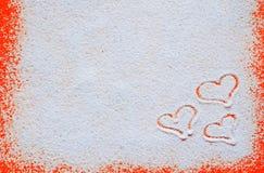 Valentinsgrußtageskonzept mit Herzen Lizenzfreie Stockfotografie