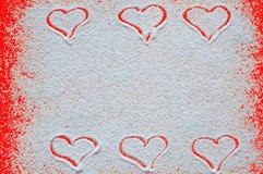 Valentinsgrußtageskonzept mit Herzen Lizenzfreie Stockfotos