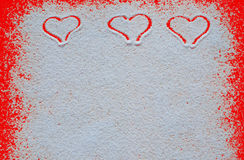 Valentinsgrußtageskonzept mit Herzen Stockfotografie