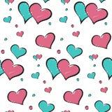 Valentinsgrußtagesliebesskizzenhintergrund Lizenzfreie Stockfotografie