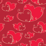 Valentinsgrußtagesnahtloser Hintergrund mit Herzen Stockfoto