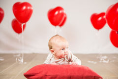 Valentinsgrußtagesporträt Lizenzfreies Stockfoto