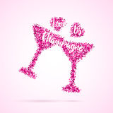 Valentinsgrußtagesschablone Stockfotos