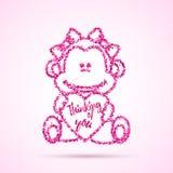 Valentinsgrußtagesschablone Stockbild