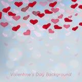 Valentinsgrußtagesvektorhintergrund mit abstraktem hea Stockfotos