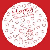 Valentinsgrußtagesvektorpaarhintergrund Stockbilder