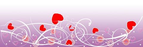 Valentinsgrußtagesweb-Vorsatz Stockbilder