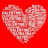 Valentinsgrußtagesweißherz Stockfotos