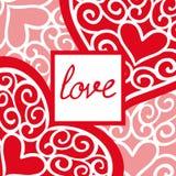 Valentinsgrußtagesweinlese-Grußkarte mit der Aufschrift stock abbildung