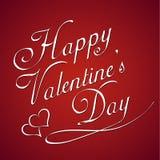 Valentinsgrußtagesweinlesebeschriftungshintergrund Stockbild