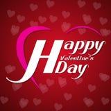 Valentinsgrußtagesweinlesebuchstabe Hintergrund-Liebe Herz Stockfoto