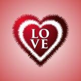 Valentinsgrußtagesweinlesebuchstabe Hintergrund-Liebe Herz Stockbilder