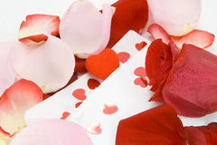 Valentinsgrußtageszeichen. mit Liebe! Stockbild