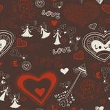 Valentinsgrußtapete. Nahtlos. Liebe. Romantisch. Lizenzfreies Stockbild