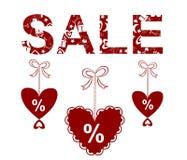 Valentinsgrußverkauf Stockbilder