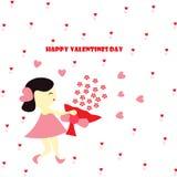 Valentinsgrußwünsche und -liebe Stockbild