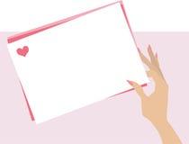 Valentinsgrußzeichen Lizenzfreie Stockfotos