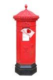 Valentinsgrußzeichen im viktorianischen Postbox Stockfotografie