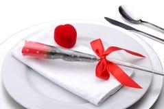 Valentinsgruß-Abendessen Stockfotografie