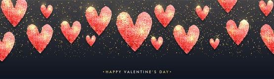 Valentinsgruß ` s Tagesfeier-Fahnendesign Stockfoto
