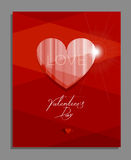 Valentinsgruß ` s Tagesgrußkarte, Plakat Stockfotografie