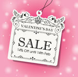 Valentinsgruß \ \ \ 's-Tagesverkaufsmarke Stockfoto