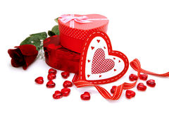 Valentinsgruß-Tagesgeschenke Stockbild