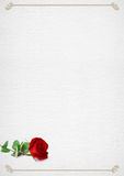 Valentinsgruß-Tagesrahmen mit stieg Stockfotos