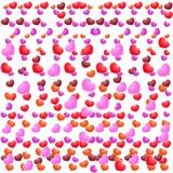 Valentinsgruß-Tagesschöner Hintergrund mit Verzierungen und Herzen. Lizenzfreie Stockfotografie