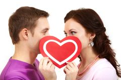 Valentinsgrußblick Stockfoto