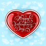 Valentinsgrußherz auf blauem Hintergrund Lizenzfreie Stockfotografie