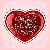 Valentinsgrußherz auf rosa Hintergrund Lizenzfreie Stockbilder