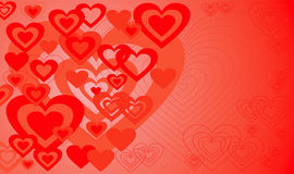 Valentinsgrußhintergrund, Vektor Lizenzfreies Stockfoto
