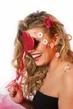 Valentinsgrußmädchen Stockbilder