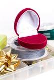 Valentinsgrußtagesfischenüberraschungsgeschenk Lizenzfreie Stockfotografie