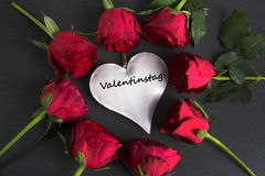 Valentinstag -德国词为ValentineÂ的天 库存照片